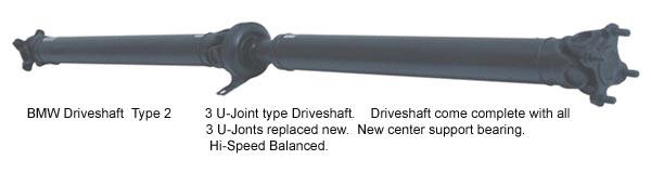BMW replacement driveshaft, remanufactured BMW driveshaft